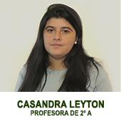 CASANDRA LEYTON - PROFESORA JEFE DE 3 BASICO